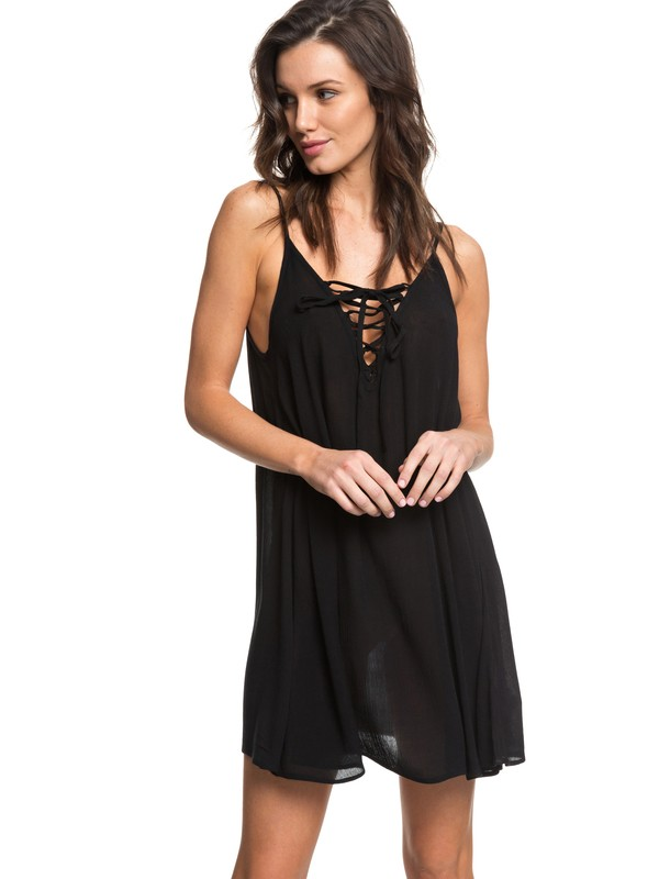 0 Softly Love Strappy Dress Black ERJX603122 Roxy