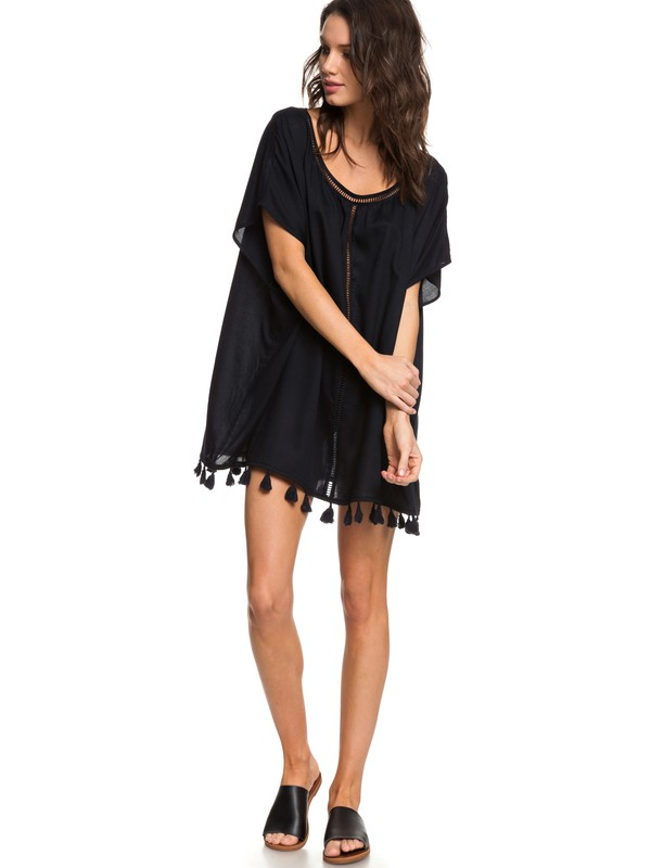 0 Poncho Sleeveless Beach Dress Black ERJX603135 Roxy
