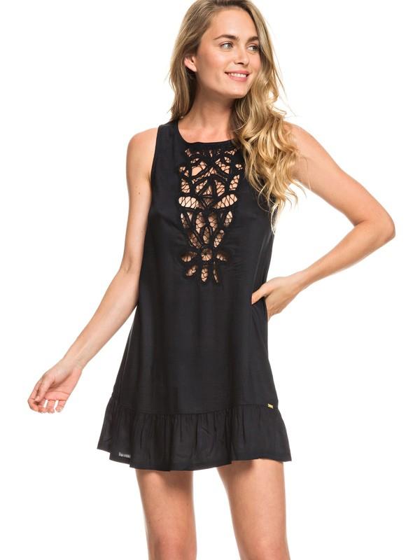 0 Goldy Soul Beach Tank Dress Black ERJX603146 Roxy