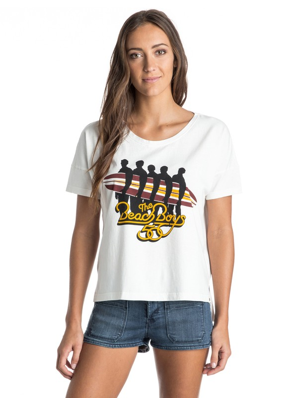 0 ROXY Band Collab Beach Boys Tee  ERJZT03334 Roxy