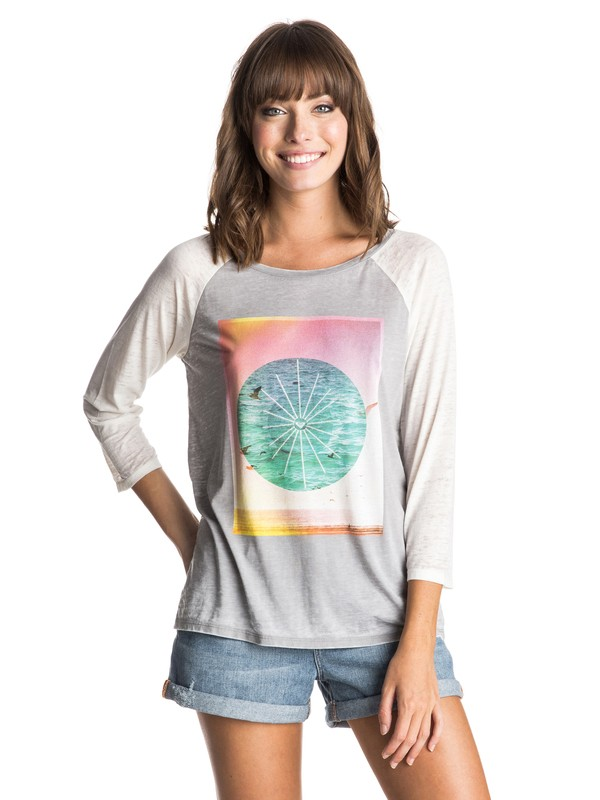 0 Aruba New Waters  Raglan Tee  ERJZT03450 Roxy