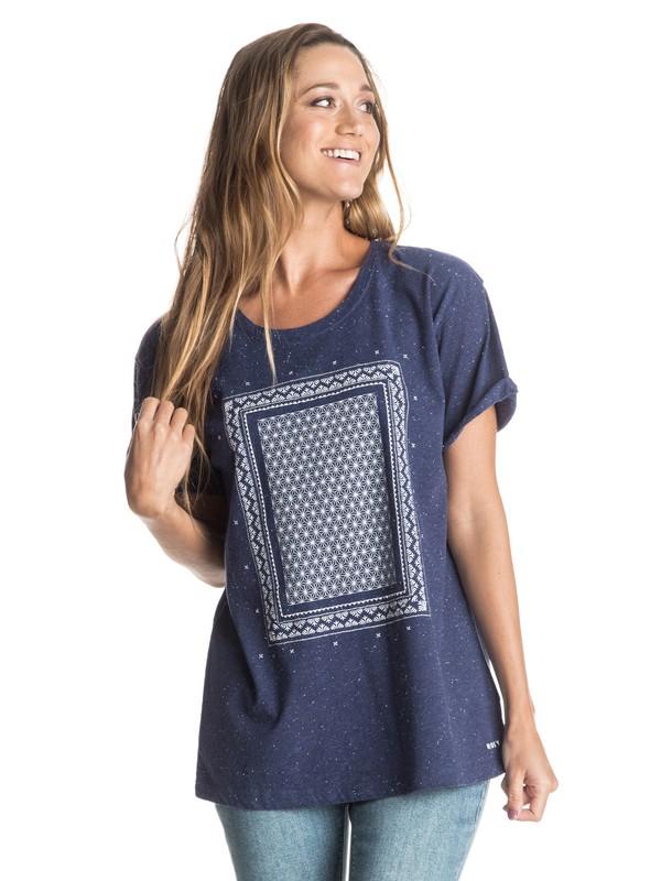 0 Boyfriend Stellar Door - T-Shirt Blue ERJZT03546 Roxy