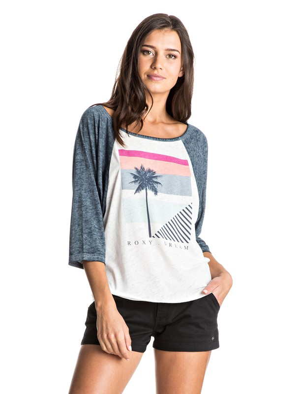 0 Surfer Dude ROXY Dream 3/4 Sleeve Raglan Tee  ERJZT03919 Roxy
