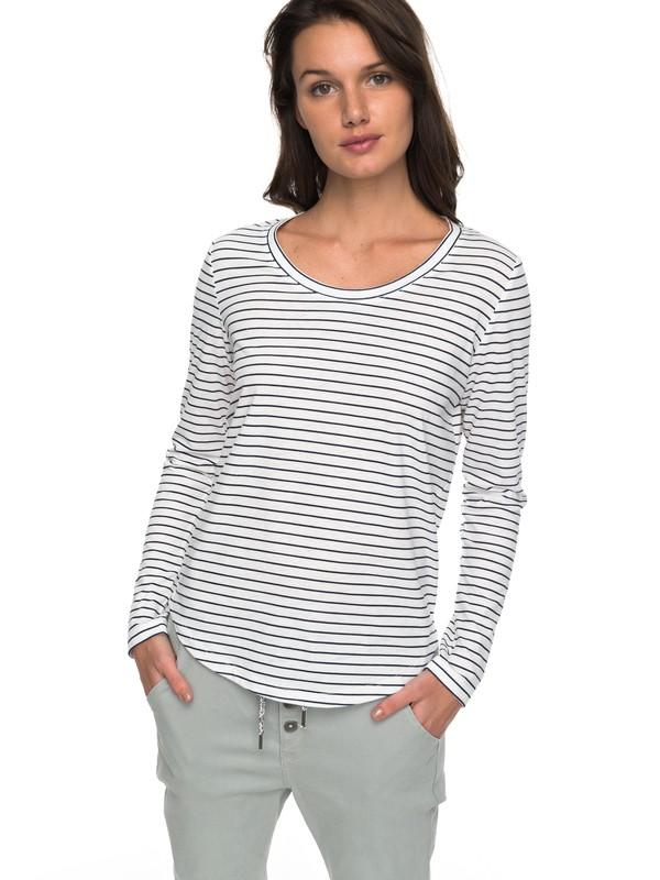 0 Just Simple Stripe - T shirt manches longues pour Femme Bleu ERJZT04014 Roxy