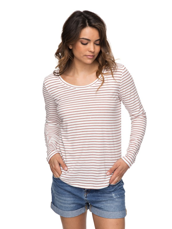 0 Just Simple Stripe - T shirt manches longues pour Femme Orange ERJZT04014 Roxy