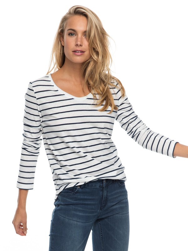 0 Just Simple Stripe Long Sleeve Tee  ERJZT04014 Roxy