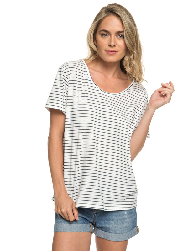 0 Just Simple Stripe - T-Shirt Blue ERJZT04056 Roxy