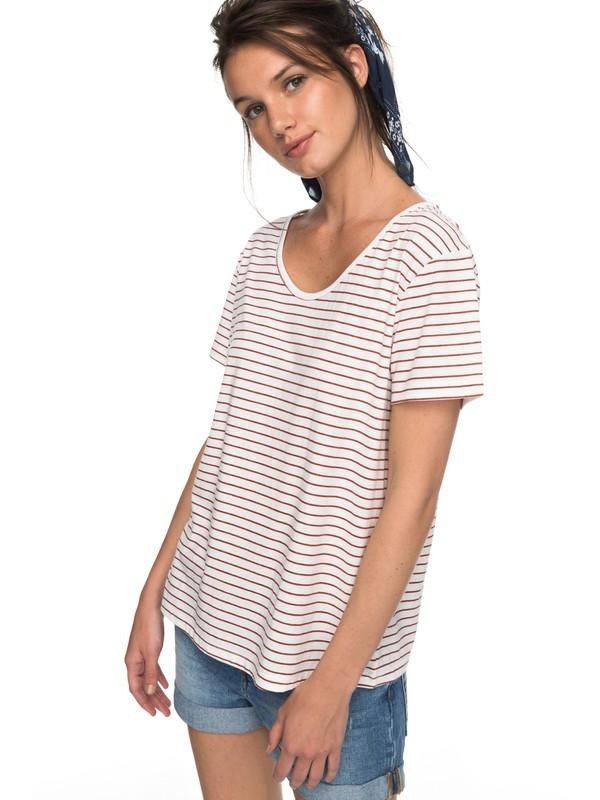 0 Just Simple Stripe - T-Shirt for Women Orange ERJZT04056 Roxy