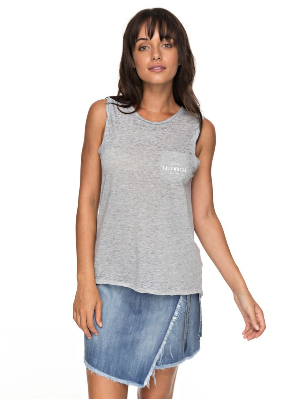 0 Time For Another Day B - Sleeveless T-Shirt for Women Gray ERJZT04157 Roxy