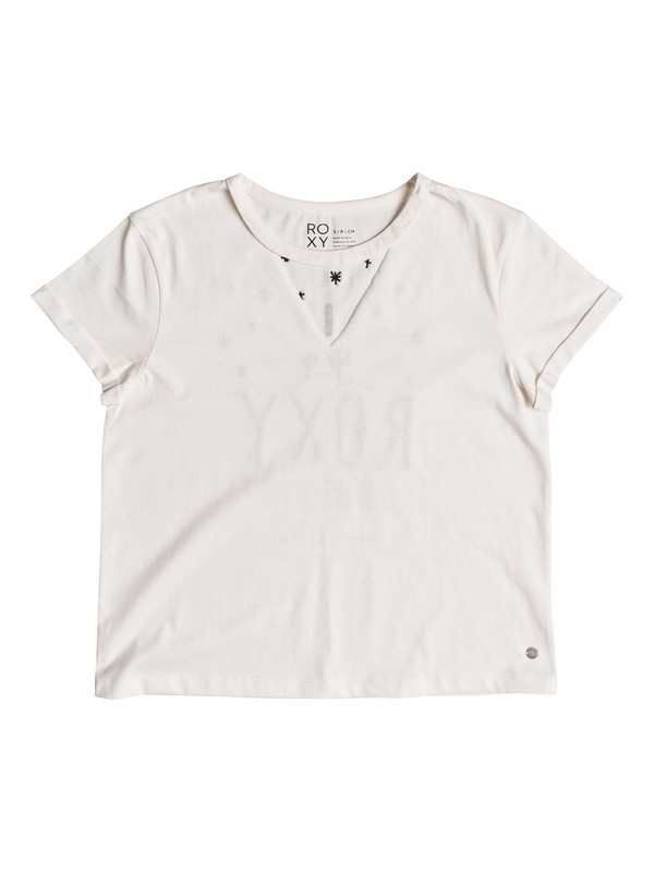 0 Fingers Crossed Ranch Day Tee White ERJZT04309 Roxy