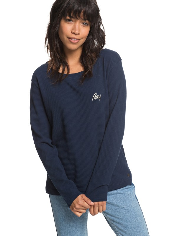 0 Cold Blue Rain Long Sleeve Tee  ERJZT04366 Roxy