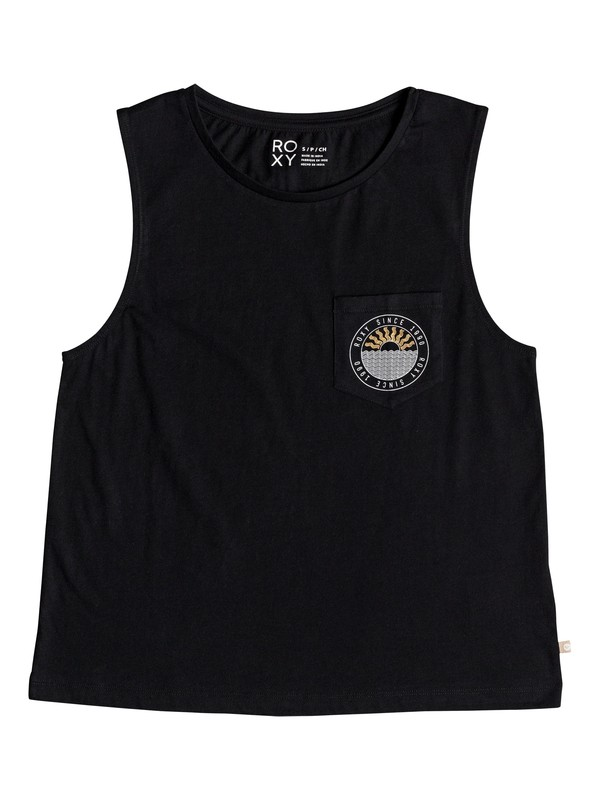 0 Uluwatu Sunset Sleeveless Tee Black ERJZT04422 Roxy