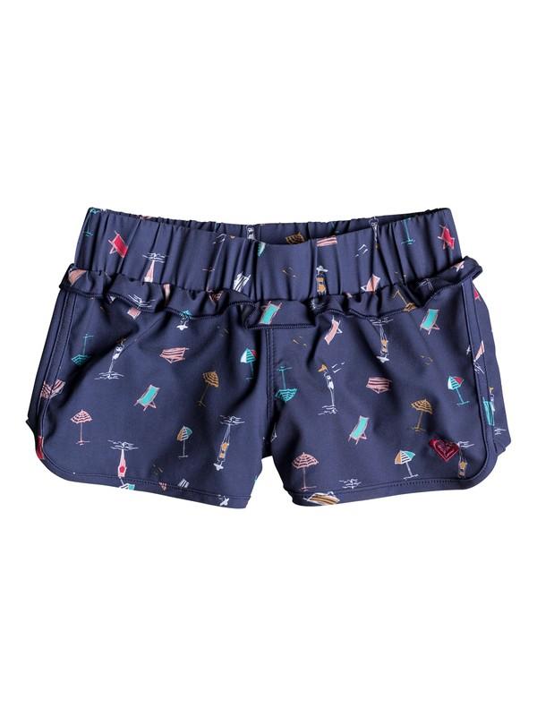0 Tropicool Sunshine - Boardshorts para Chicas 2-7 Azul ERLBS03025 Roxy