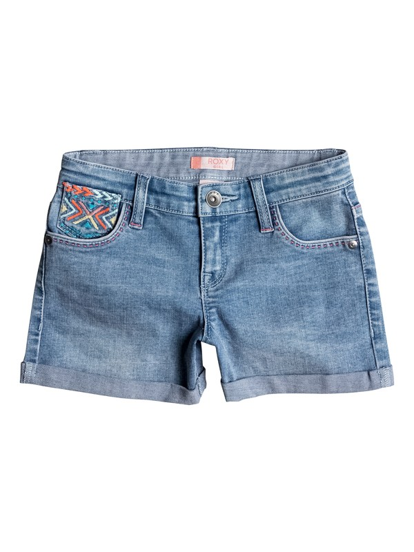 0 Girls 2-6 Ribbit Ears Denim Shorts  ERLDS03018 Roxy