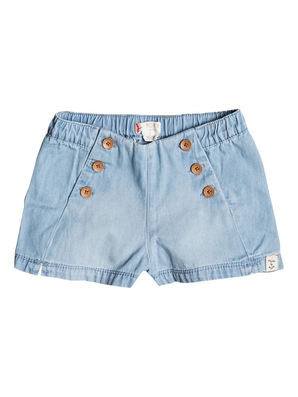 0 Girl's 7-14 Shiny Thoughts Denim Shorts  ERLDS03025 Roxy