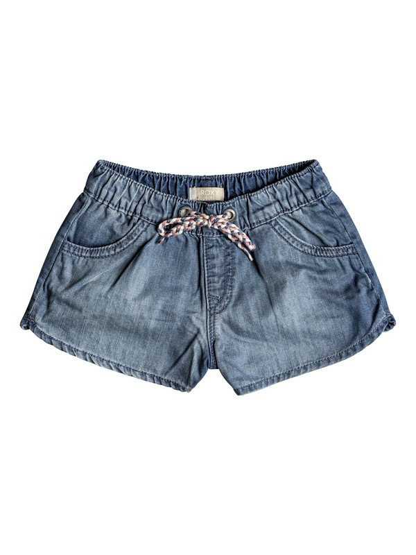 0 Her Songs - Denim Beach Shorts for Girls 2-7 Blue ERLDS03027 Roxy