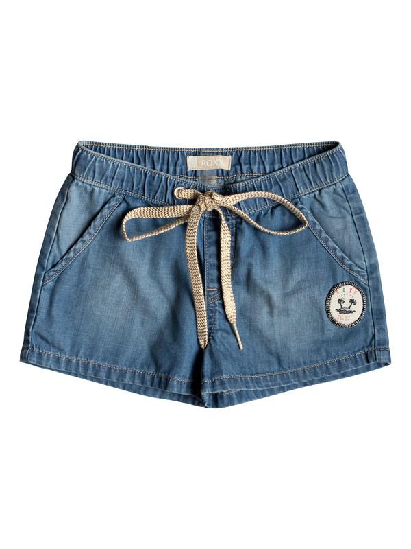 0 Girl's 2-6 Timeless Denim Shorts Blue ERLDS03034 Roxy