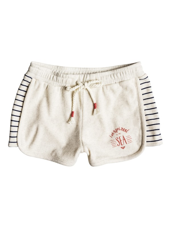 0 Girl's 2-6 Freedom Is Mine Sweat Shorts Beige ERLFB03048 Roxy