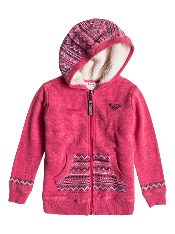 0 Girls 2-6 Pink Flamingo A Sweatshirt  ERLFT03006 Roxy