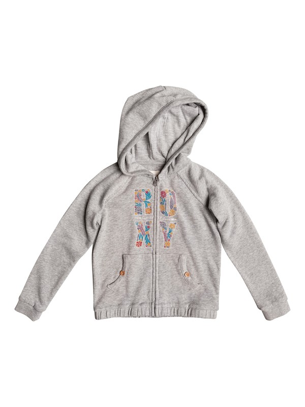 0 Girl's 7-14 Radiate Positive Zip-Up Hoodie  ERLFT03112 Roxy