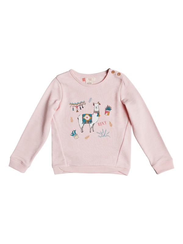 0 Girls 2-6 Palms Valley Lami Lama Sweatshirt  ERLFT03118 Roxy