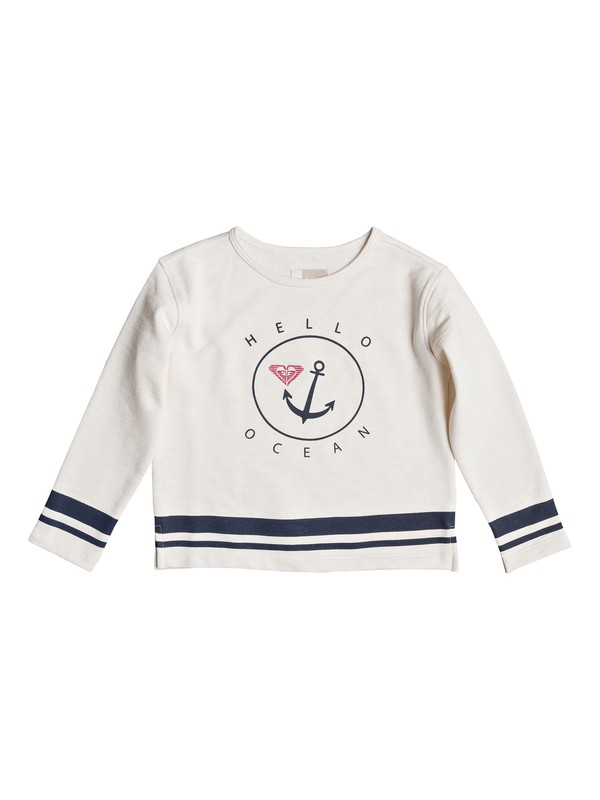 0 Girl's 2-6 Bright Minds Sweatshirt White ERLFT03130 Roxy