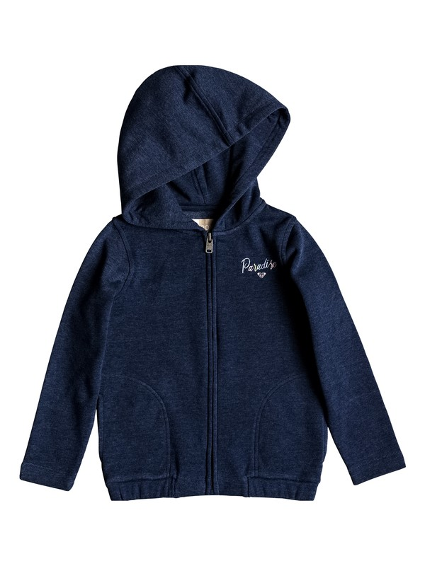 0 Girl's 2-6 Second Soul Paradise Zip-Up Hoodie Blue ERLFT03136 Roxy