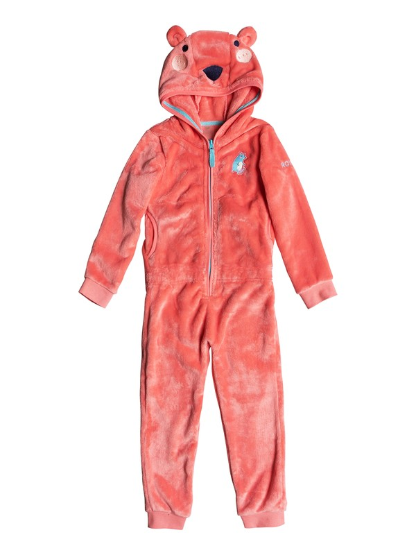0 Girls 2-6 Cozy Up Faux Fur Fleece Onesie Pink ERLFT03141 Roxy