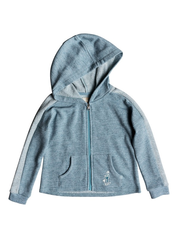 0 Girls 2-6 As We Wish Zip Hoodie Blue ERLFT03144 Roxy