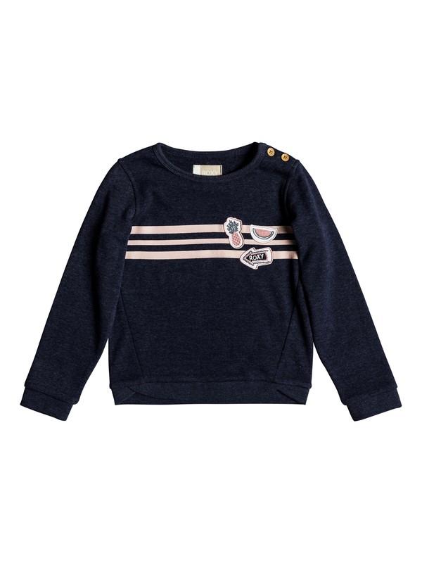 0 My Days Tell Me A Story - Sweatshirt pour Fille 2-7 ans Bleu ERLFT03153 Roxy