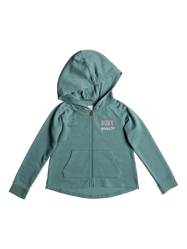 0 Girls 2-6 Look Happier School Out Zip-Up Hoodie Blue ERLFT03154 Roxy
