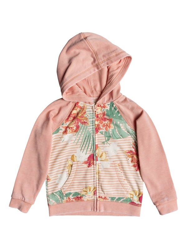 0 Girl's 2-6 Banana Pancakes Zip-Up Hoodie Pink ERLFT03161 Roxy