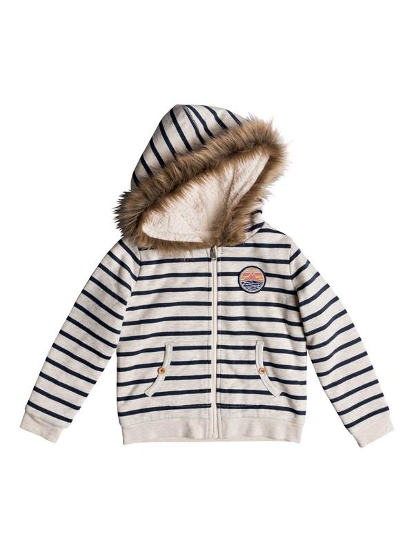 0 Girl's 2-6 Slumber Party Zip-Up Sherpa Lined Hoodie Beige ERLFT03163 Roxy