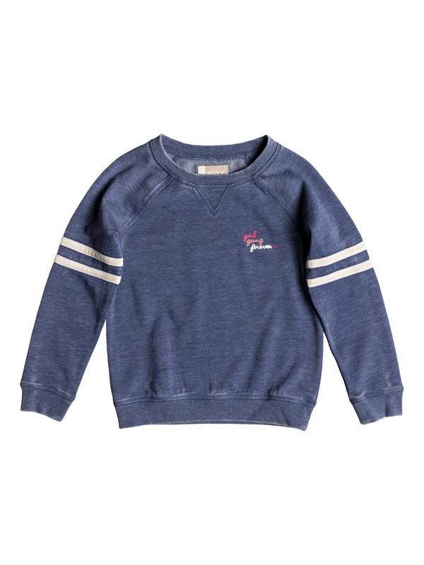 0 Girl's 2-6 Up Here Girl Gang Sweatshirt Blue ERLFT03169 Roxy
