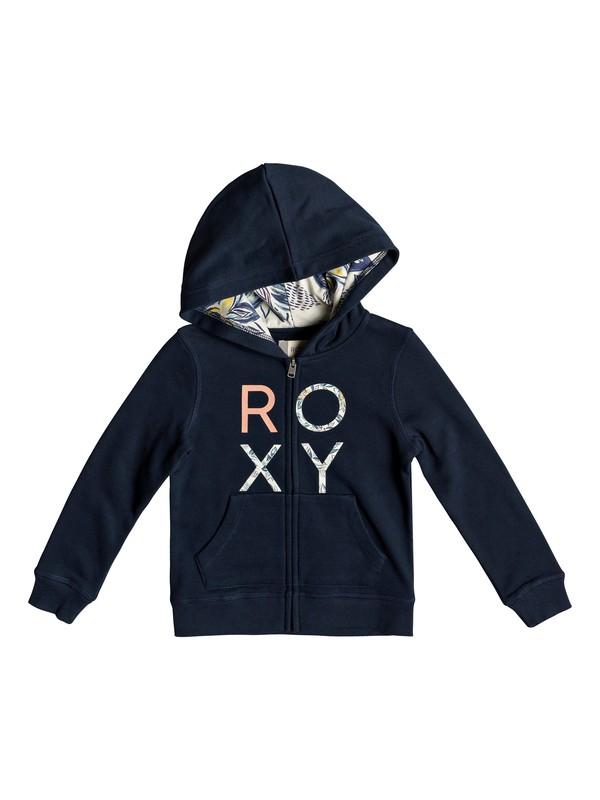 0 Girl's 2-6 Make It Easy Zip-Up Hoodie Blue ERLFT03173 Roxy