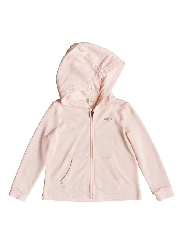 0 Girl's 2-6 Pink Knot A Zip-Up Hoodie Pink ERLFT03183 Roxy