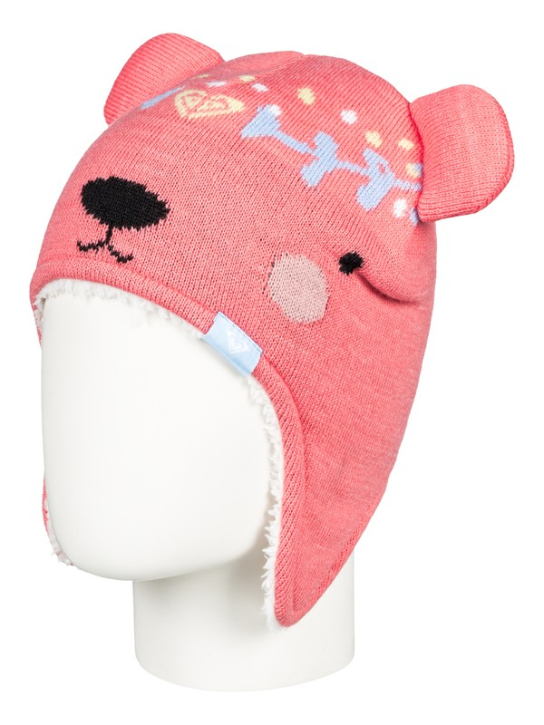 0 Girl's 2-6 Bear Beanie  ERLHA03041 Roxy