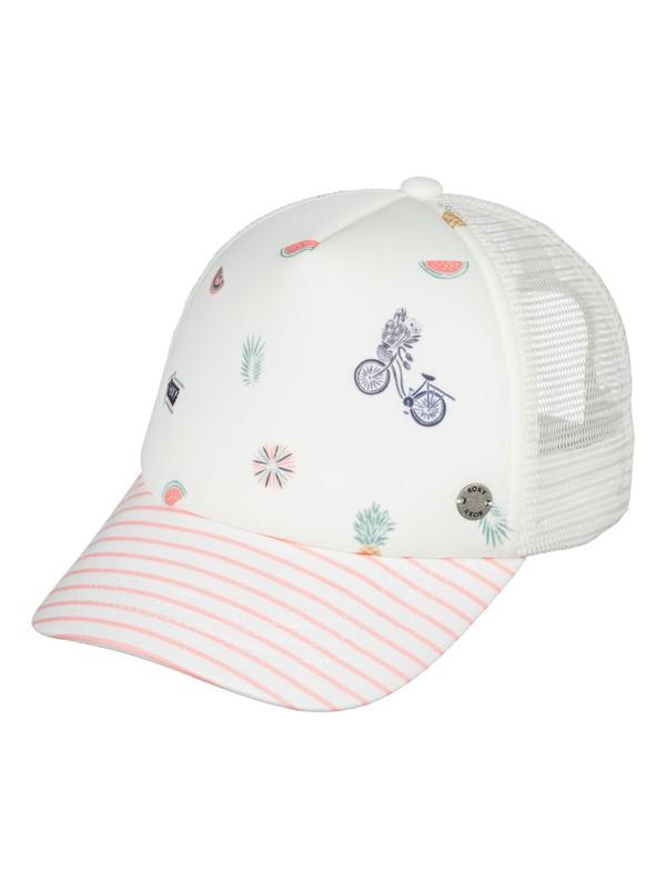 0 Girl's 2-6 Sweet Emotion Trucker Hat White ERLHA03047 Roxy