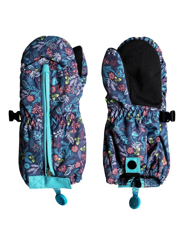 0 Girl's 2-6 Snow's Up Snowboard/Ski Mittens Blue ERLHN03005 Roxy
