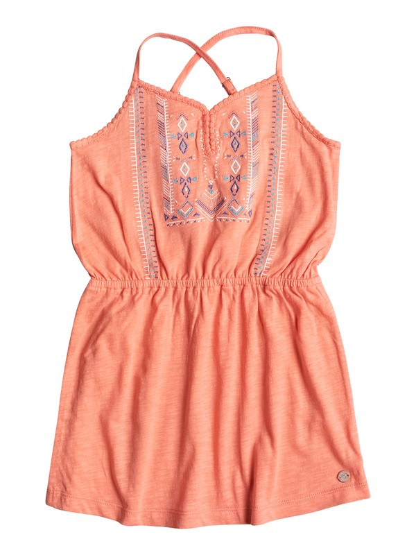 0 Girls 2-6 N'Ice Cream Strappy Dress  ERLKD03026 Roxy