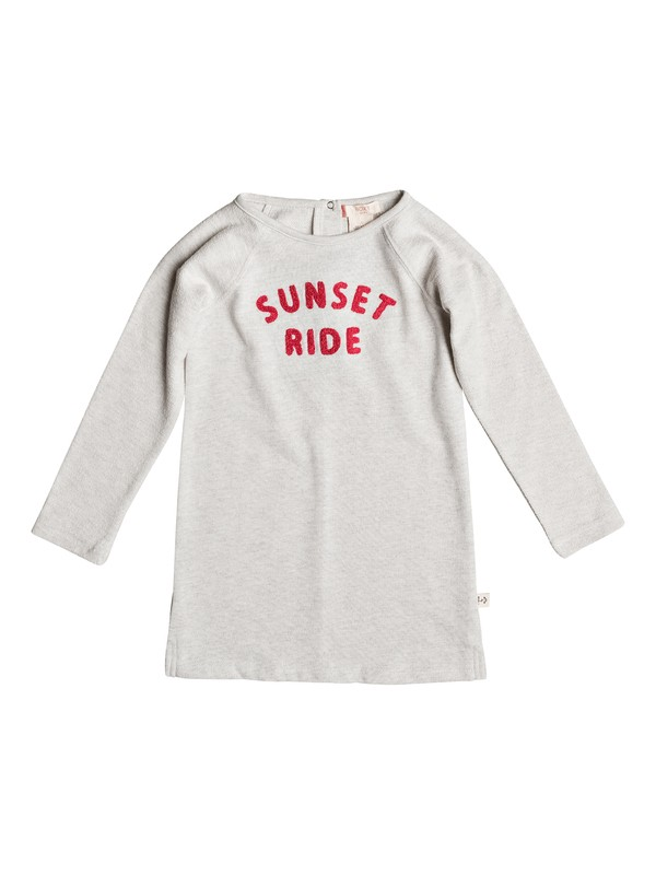 0 Freedom Is Calling - Robe à manches longues pour Fille 2-7 ans Beige ERLKD03031 Roxy