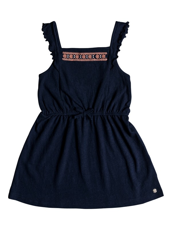 0 Girls 2-6 Share My Dreams Tank Jersey Dress Blue ERLKD03051 Roxy