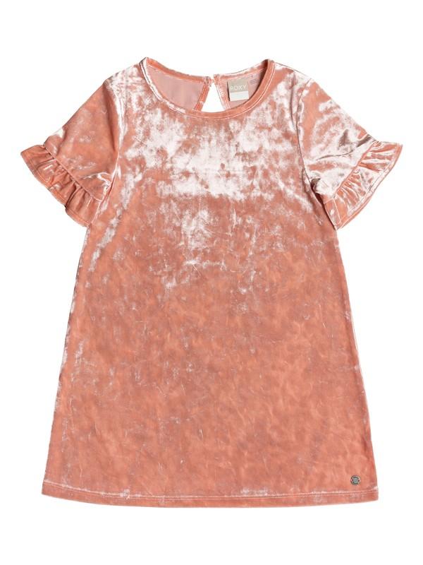 0 Girl's 2-6 Sea Oxygen Short Sleeve Velvet Dress Pink ERLKD03059 Roxy