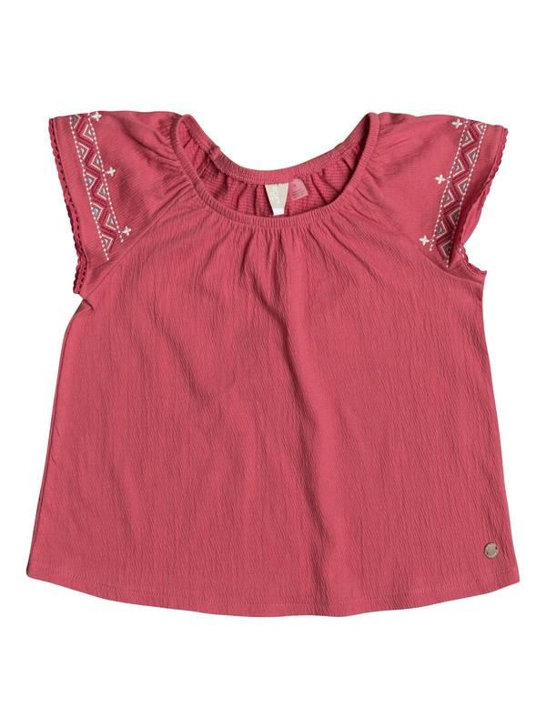 0 Girl's 2-6 Loving Arms Short Sleeve Top Pink ERLKT03052 Roxy