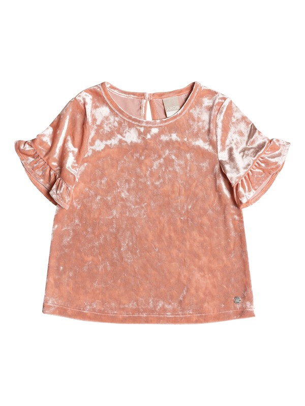 0 Girl's 2-6 Go Back Home Short Sleeve Velvet Top  ERLKT03064 Roxy