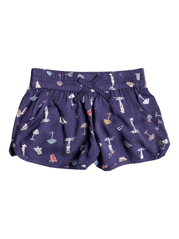 0 Girls 2-6 Meet Me In The City Pull On Shorts Blue ERLNS03014 Roxy