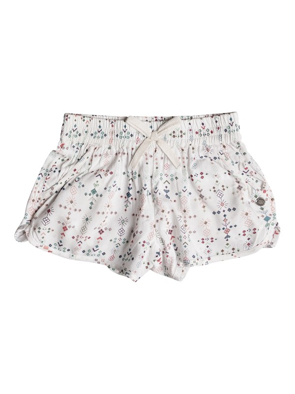0 Girls 2-6 Tender Touch Beach Shorts White ERLNS03019 Roxy