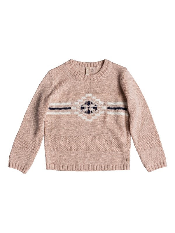 0 Girls 2-6 Across The Sky Sweater Pink ERLSW03021 Roxy