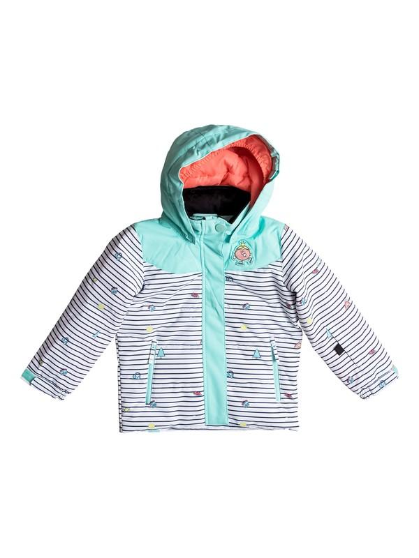 0 Anna Little Miss - Snow Jacke für Mädchen 2-7 Weiss ERLTJ03006 Roxy
