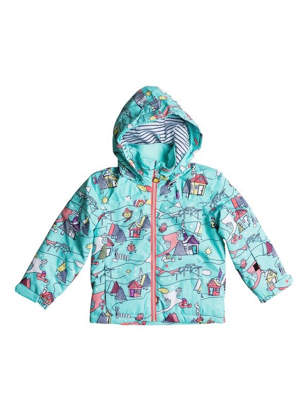 0 Girls 2-6  Mini Jetty Little Miss Snow Jacket  ERLTJ03007 Roxy
